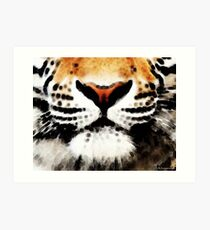 Tiger Art - Burning Bright Art Print