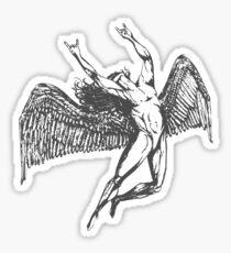 ICARUS THROWS THE HORNS - grey  ***find hidden gems in my portfolio*** Sticker