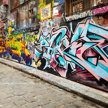 Melbourne Graffiti  by kezzamccwill