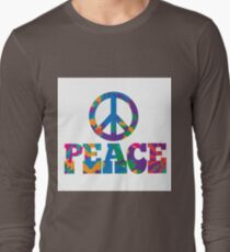 colorful Peace text design. Long Sleeve T-Shirt