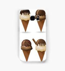 Set of ice cream cones. Samsung Galaxy Case/Skin
