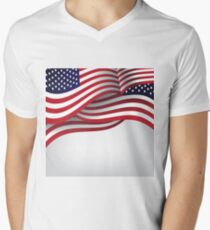 American flag illustration Mens V-Neck T-Shirt
