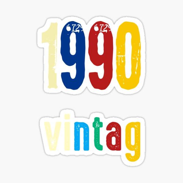 vintag 1990 brithday Sticker