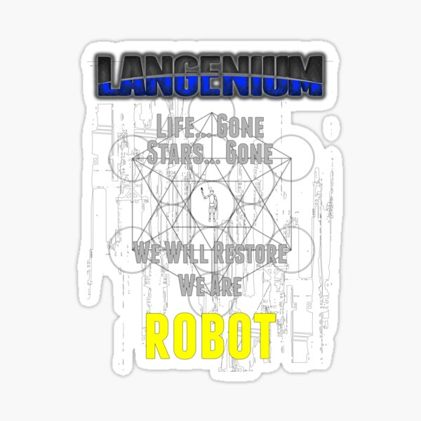 Robot, A Langenium Story Sticker