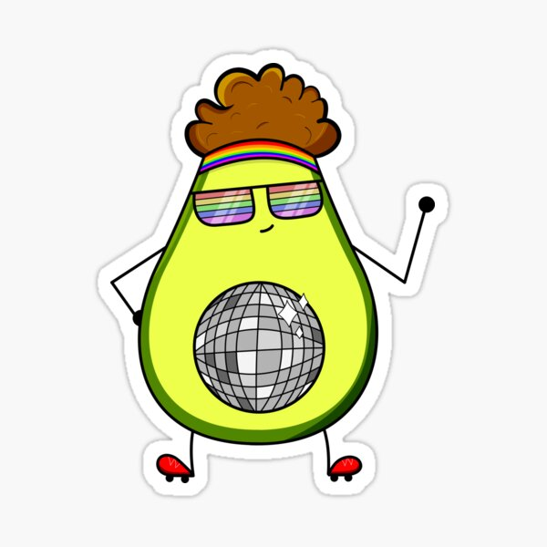 Disco Avocado  Sticker
