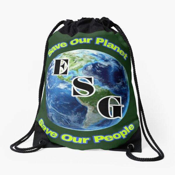 Environment social governance ESG Drawstring Bag