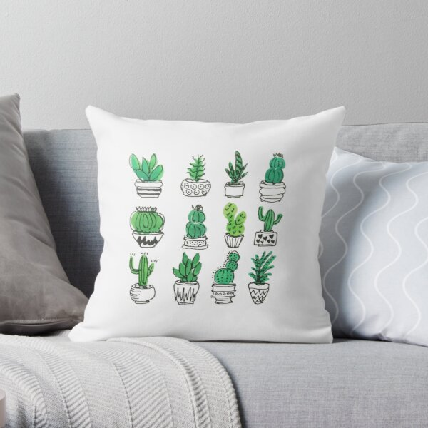 Some wee succulents Throw Pillow