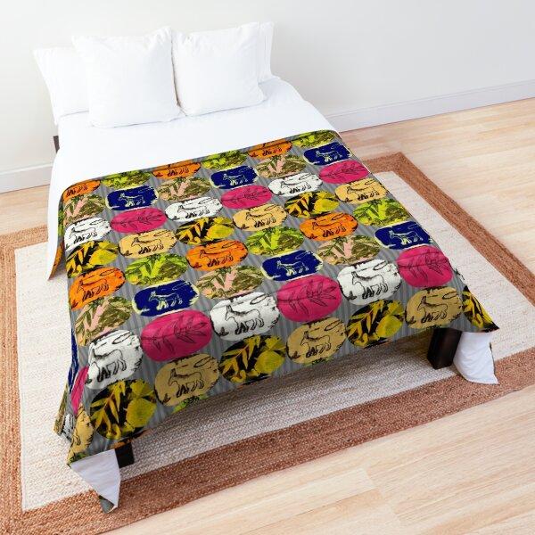 Donkey mosaic Comforter