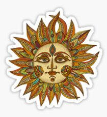 Hippie Sun Sticker