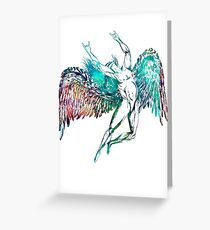 ICARUS THROWS THE HORNS - monet waters  ***find hidden gems in my portfolio*** Greeting Card