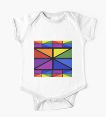 Geometric Stained Glass Window Design One Piece - Short Sleeve