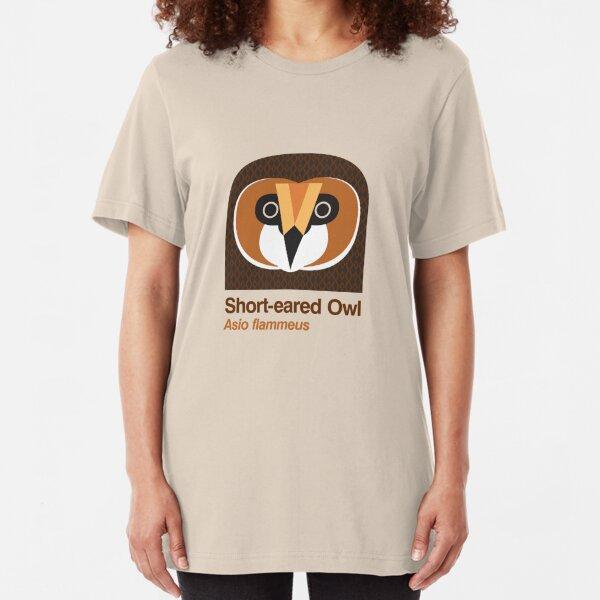 Short-eared Owl Slim Fit T-Shirt