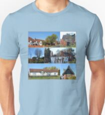 Cottages Collage Unisex T-Shirt