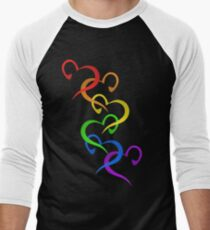 Hearts of PRIDE Men's Baseball ¾ T-Shirt