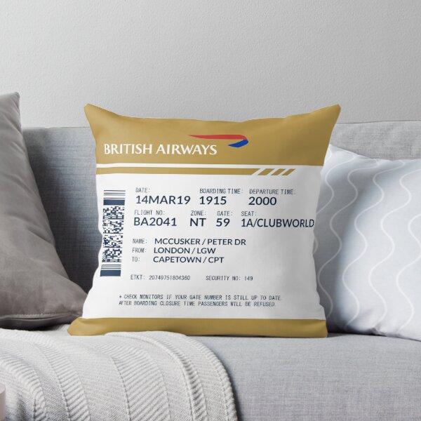 Boarding Pass 5748x5748 MPD Throw Pillow