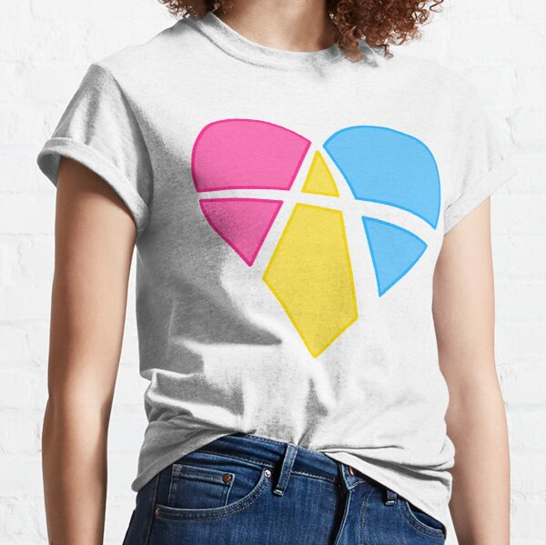 Pansexual Relationship Anarchy Heart (white) Classic T-Shirt