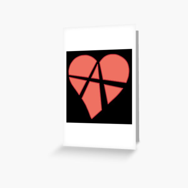 Relationship Anarchy Heart (black) Greeting Card