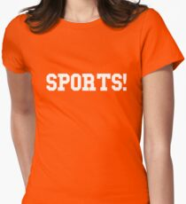 Sports - version 2 - white Womens Fitted T-Shirt