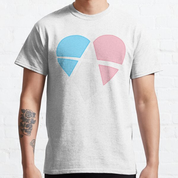 Transgender Relationship Anarchy Heart (white) Classic T-Shirt