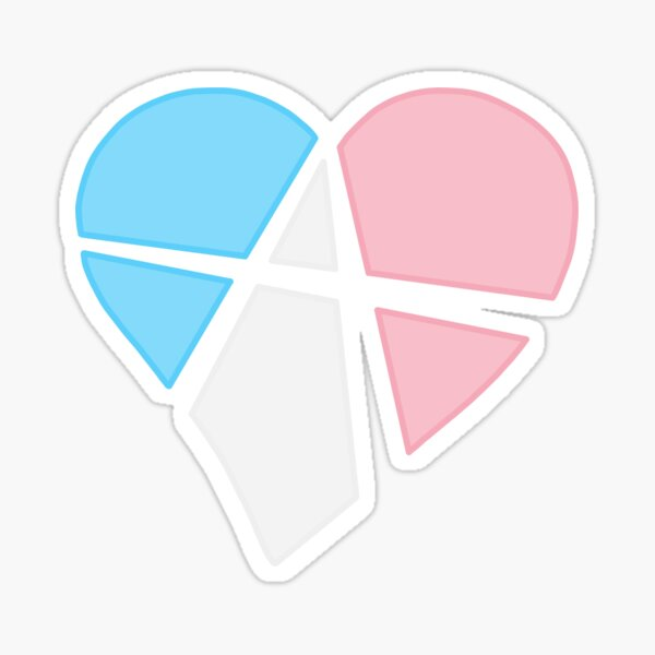 Transgender Relationship Anarchy Heart (black) Sticker