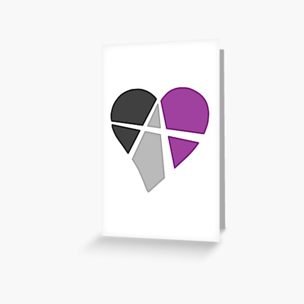 Asexual Relationship Anarchy Heart Greeting Card