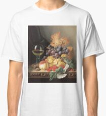 Edward Ladell - A Basket Of Grapes, Raspberries. Edward Ladell - still life with fruits and glass of wine. Classic T-Shirt