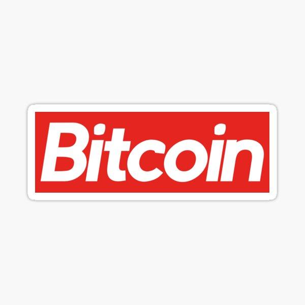 Bitcoin Supreme Sticker