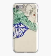 Egon Schiele - Two Friends, Reclining (Tenderness). Schiele - lovers. iPhone Case/Skin