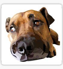 Puppy Dog Vector Portrait Sticker