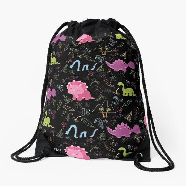 Dinamic Girlz Dino Pattern Drawstring Bag