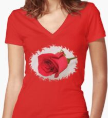 Let Me Call You Sweetheart ~ A Rose Women's Fitted V-Neck T-Shirt