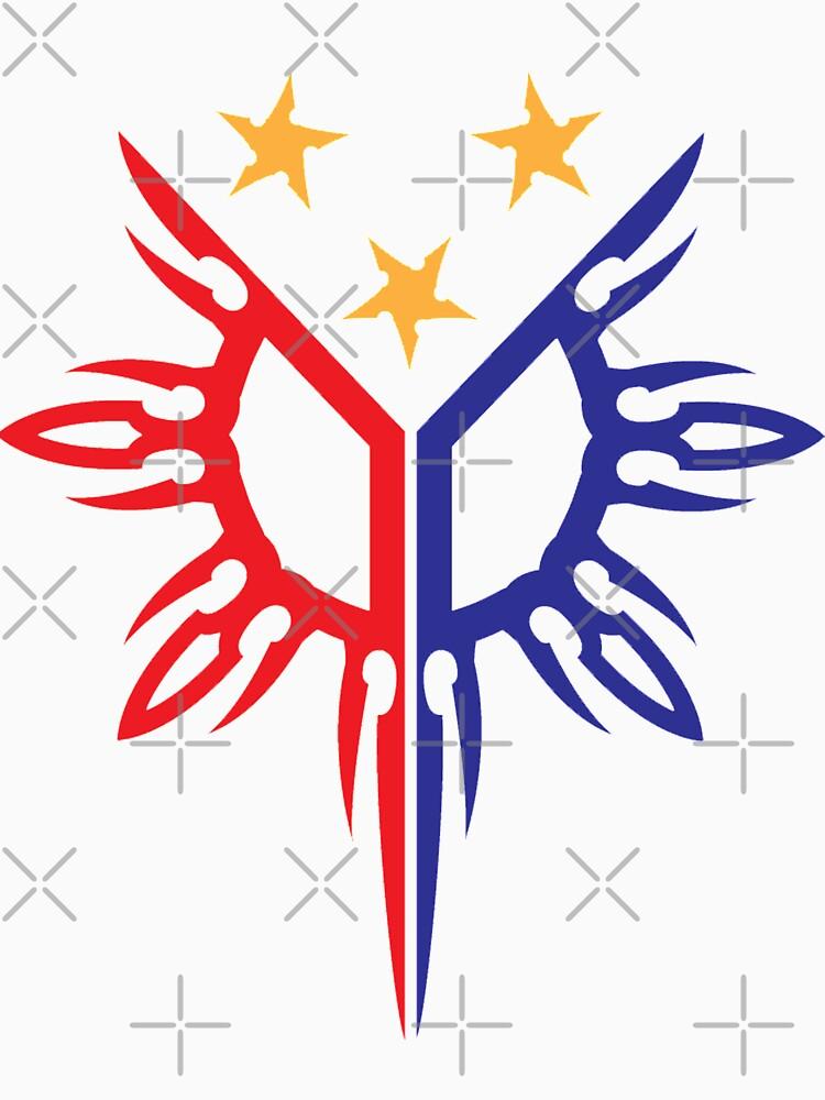 Stammes- Philippinen Filipino Sun und Sterne Flagge von airealapparel