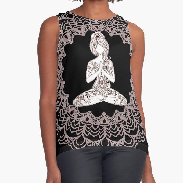 Divine Feminine Mandala Art Sleeveless Top