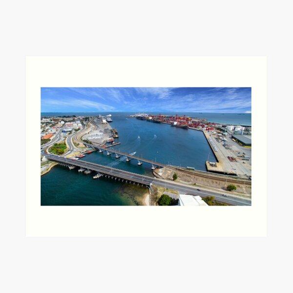 Fremantle port, Western Australia Art Print