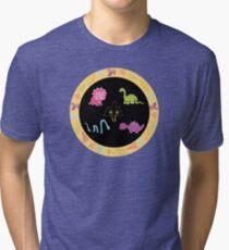Dinamic Girls Collection - Girl Dinosaur Design Tri-blend T-Shirt