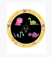 Dinamic Girls Collection - Girl Dinosaur Design Photographic Print