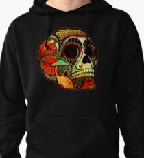 Grunge Skull Pullover Hoodie