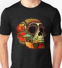 Grunge Skull Slim Fit T-Shirt