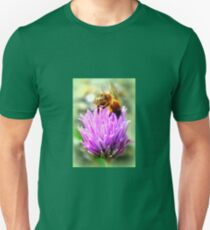 Bee on chive flower T-Shirt