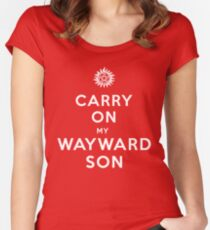 Carry on (My wayward son) Women's Fitted Scoop T-Shirt