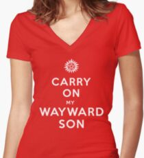 Carry on (My wayward son) Women's Fitted V-Neck T-Shirt