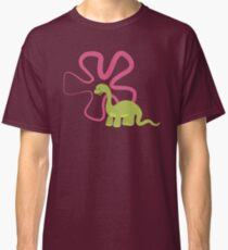 Dinamic Girls Collection - Green Dinosaur Girl with Flower Classic T-Shirt