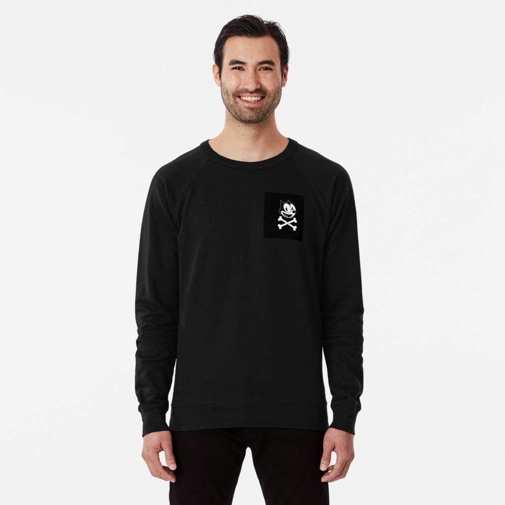 Felix the cat skull Lightweight Sweatshirt