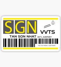 Destination Ho Chi Minh Airport Sticker