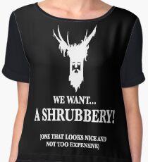 Bring Us A Shrubbery Chiffon Top