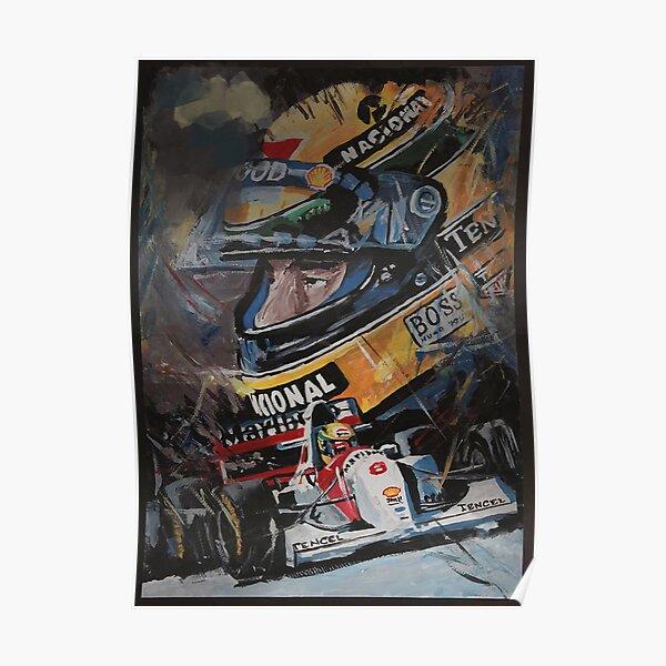 Fond d'écran Ayrton Senna Illustration Poster