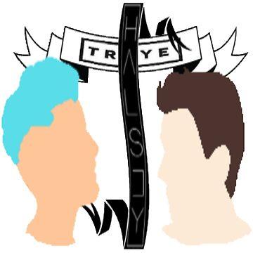 Troye & Halsey + ribbons by DSFLi