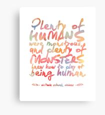 "VICIOUS QUOTE | ""HUMANS & MONSTERS"" Metal Print"