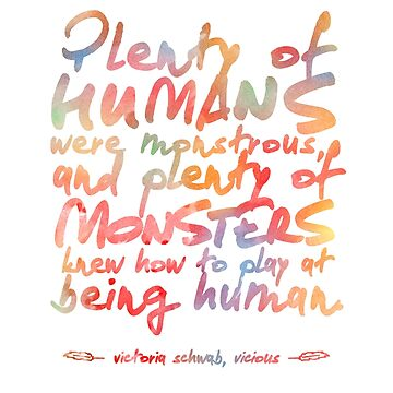 "VICIOUS QUOTE | ""HUMANS & MONSTERS"" by aimeereads"