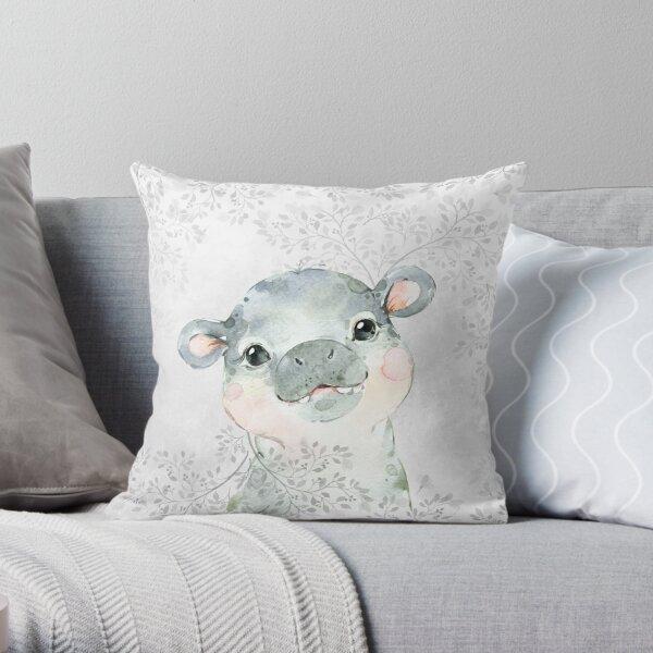 Hippo kids pillow Africa Throw Pillow